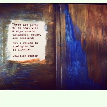 accompanying art journal detail - Kaitlin Foster quote
