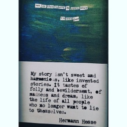 accompanying art journal detail - Hesse quote